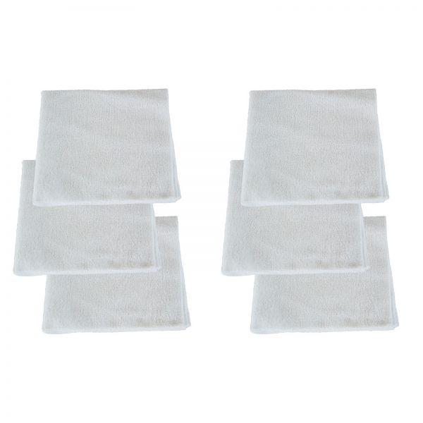 6x RUPES Mikrofasertuch Poliertuch Microfasertuch Trockentuch weiss 40 x 40 cm