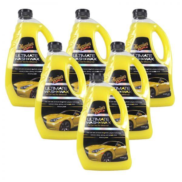 6x MEGUIAR'S MEGUIARS Ultimate Wash & Wax Autoshampoo Wachs Autopflege 1420 ml