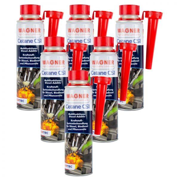 6x WAGNER SPEZIALSCHMIERSTOFFE Cetane CS1 Diesel-Additiv Diesel-Zusatz 300 ml