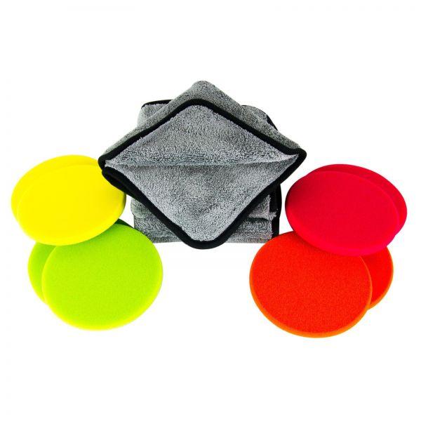 ZviZZer Polierpad Polierschwamm soft bis hart 150/12 mm & Poliertuch