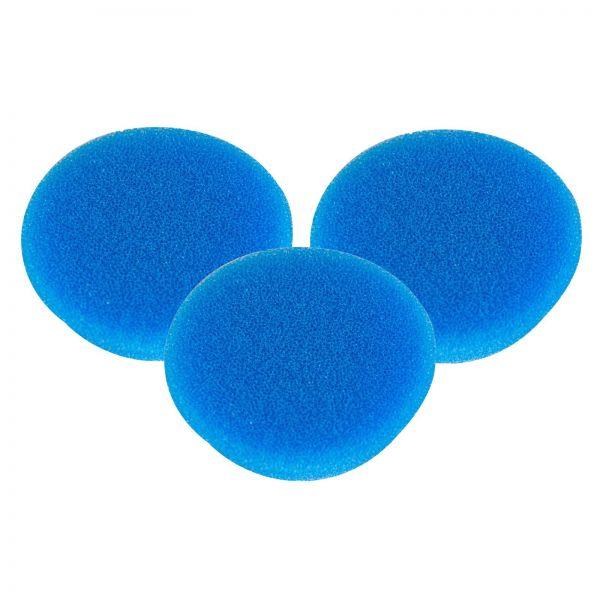 3x RUPES Polierpad Coarse Polierschwamm Polierscheibe blau hart 30-40mm