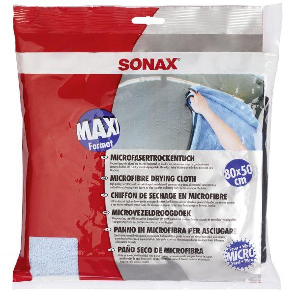 SONAX Mikrofasertrockentuch Mikrofasertuch Trockentuch Tuch 500 GSM 80 x 50 cm