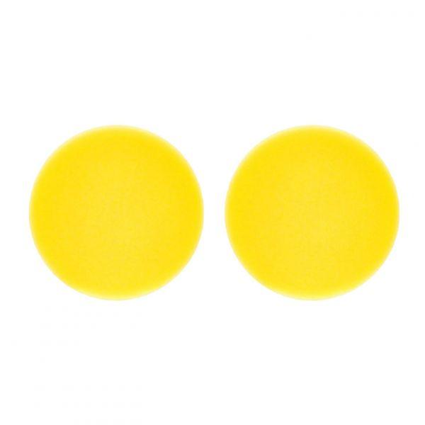 2x LIQUID ELEMENTS Polierpad Polierschwamm Polierscheibe gelb mittel 150/25 mm