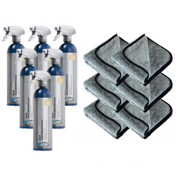 6x KOCH CHEMIE Insect&Dirt Remover Insektenentferner 750 ml & P4C Mikrofasertuch