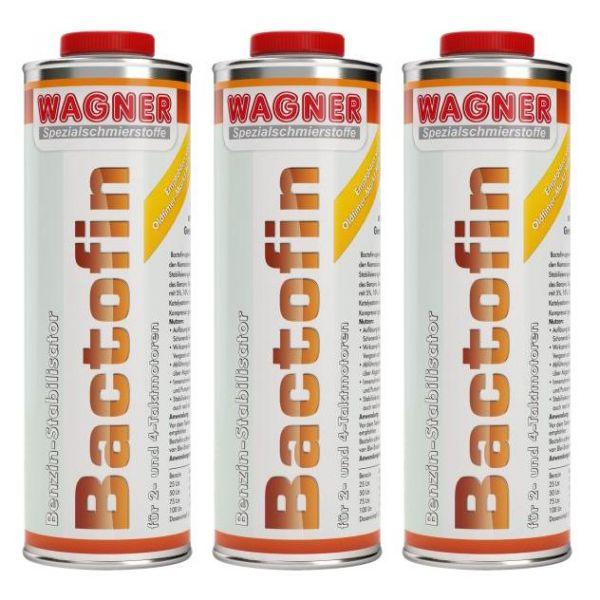 3x WAGNER SPEZIALSCHMIERSTOFFE Bactofin Benzinstabilisator Tankrostschutz 1 L