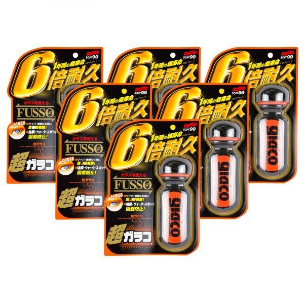 6x SOFT99 Ultra Glaco Scheibenversiegelung wasserabweisend Regenabweiser 70 ml