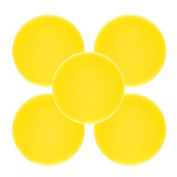 5x LIQUID ELEMENTS Polierpad Polierschwamm Polierscheibe gelb mittel 80/20 mm