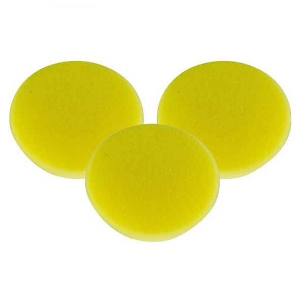 3x RUPES Polierpad Fine Polierschwamm Polierscheibe gelb soft 50-70mm