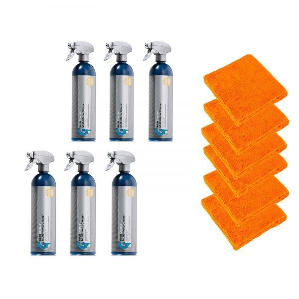 6x KOCH CHEMIE Multi Interior Cleaner Innenraumreiniger & 6x Mikrofasertuch