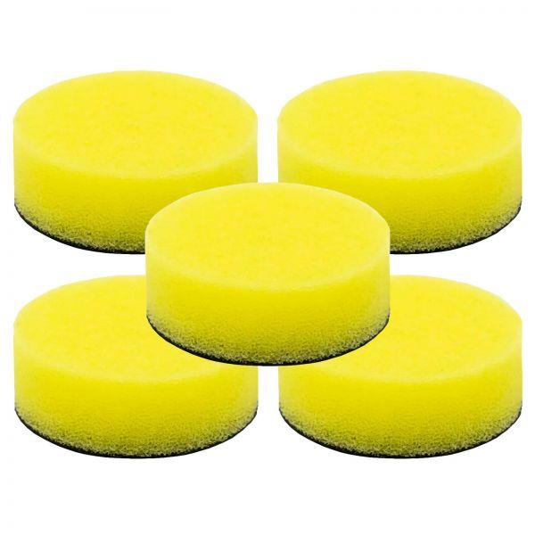 5x LIQUID ELEMENTS Polierpad Polierschwamm Polierscheibe gelb mittel 40/15 mm
