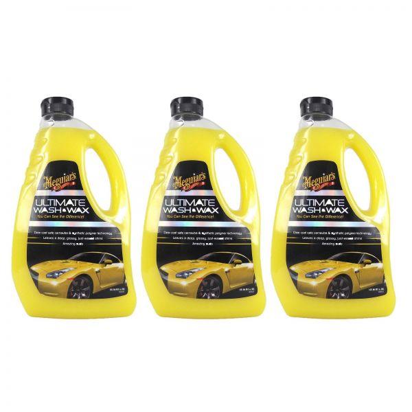 3x MEGUIAR'S MEGUIARS Ultimate Wash & Wax Autoshampoo Wachs Autopflege 1420 ml