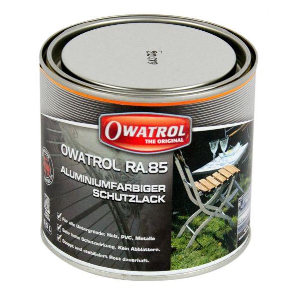OWATROL RA.85 Aluminiumfarbiger Schutzlack Rostschutz Roststop Aluschutz 500 ml