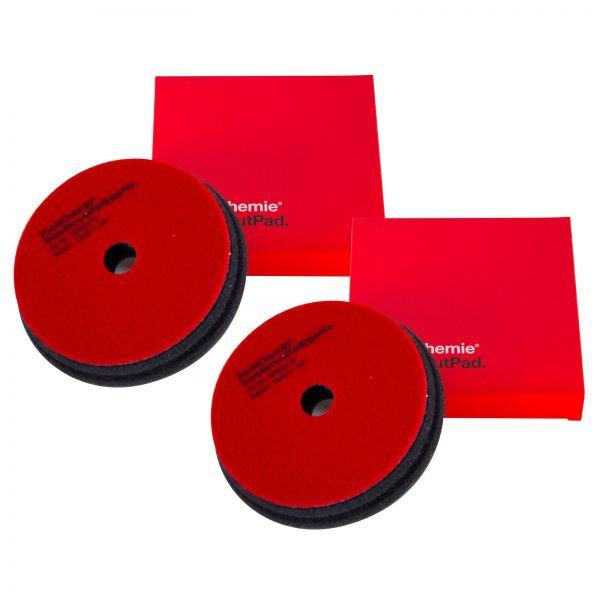 2x KOCH CHEMIE Heavy Cut Pad Polierpad Polierschwamm Schleifschwamm 150/23 mm