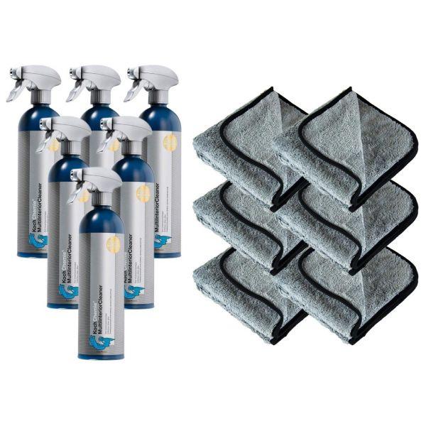 6x KOCH CHEMIE MultiInteriorCleaner Polsterreiniger 750 ml & P4C Mikrofasertuch